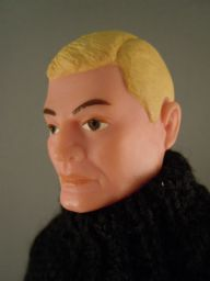 VINTAGE GI JOE FOREIGN HEAD - FRENCH RESISTANCE SOLDIER OF THE WORLD (ref 2)